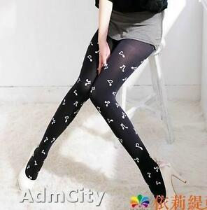 Admcity-opaque-spandex-pantyhose-tights-with-musical-notes-print-black-white