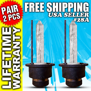 8000k-Bulbs-HID-Xenon-Low-Beam-Headlight-Pair-2-Bulb-D2S-D2R-D2C-8000-k-28A