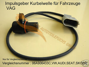 kurbelwellensensor f r vw golf 4 bora 1 6 1 8 1 8t 2 0 ebay. Black Bedroom Furniture Sets. Home Design Ideas