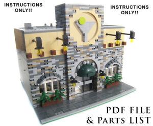 Lego-Custom-City-Restaurant-Modular-INSTRUCTIONS-ONLY