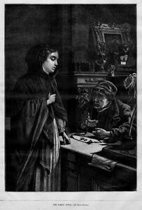 PAWN-SHOP-WOMEN-SELLING-FAMILY-JEWEL-ANTIQUE-PRINT