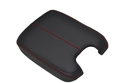 FITS HONDA ACCORD 2008+ ARMREST COVER REAL LEATHER red stitching
