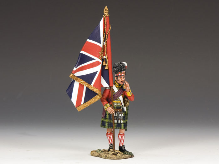 KING AND COUNTRY Gordon Highlanders Officer Kings Colours NA214 Painted Metal