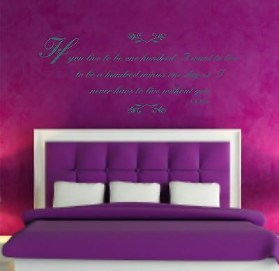 Winnie The Pooh Quote Vinyl Wall Art Sticker Decal Mural, Bedroom
