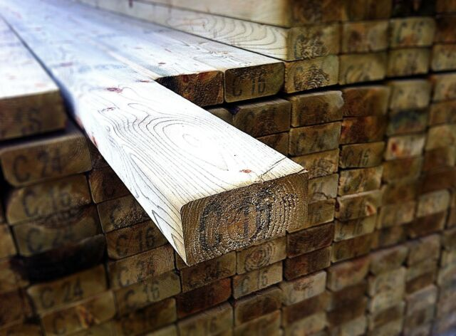 "Sawn Treated Timber 2"" x 2"" x 10' (50mm x 47mm x 3000mm)"