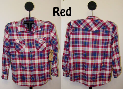 Bailey/'s Point Men/'s Plaid Button Front Long Sleeve Flannel 2 Pocket Shirt