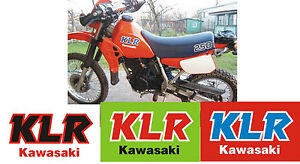 Kawasaki klr 250 600 stickers aufkleber autocollant klr250 for Autocollant mural