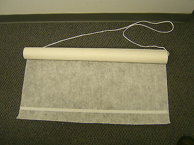 Aisle Runner Ivory 50' floral print fabric w/adh & rope