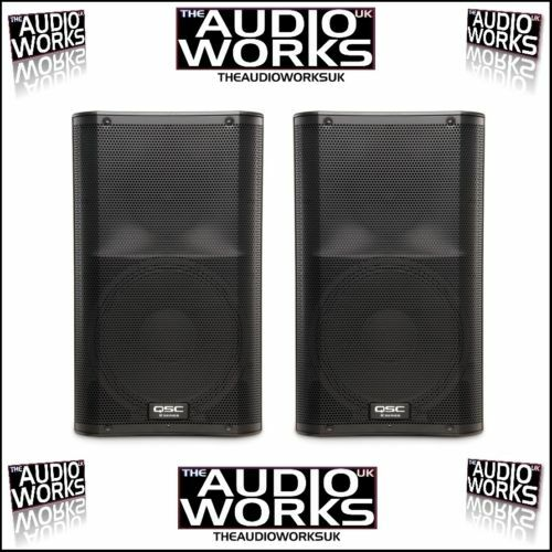 NEW PAIR QSC K12 1000W ACTIVE PA DJ SPEAKERS