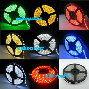 5M-5050-SMD-300-LED-Flexible-Waterproof-Strip-Light-White-Red-Blue-Green-Yellow