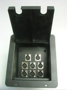 ProCraft Pro Audio Recessed Stage Floor Pocket Box 6 Female, 2 Male XLR/Channel