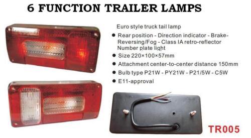 Triángulo rectángulo Trasero Remolque Camión Van LED de luces de conjunto de 5 6 7 función Niebla NUEVO