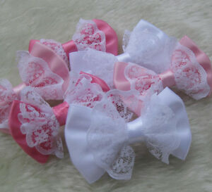 21PCS-Satin-Ribbon-Bows-Flowers-Wedding-Appliques-Craft-E142-Upick-Accessory
