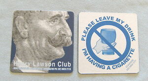 HENRY-LAWSON-CLUB-SMOKING-amp-BEER-COASTER