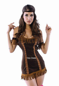 SEXY-LADIES-INDIAN-POCAHONTAS-COSTUME-OUTFIT-FANCY-DRESS-HEN-NIGHT-PARTY-8-10