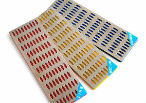 PROOPS-50MM-X-150MM-3-PC-DIAMOND-SHARPENING-STONE-KNIFE-CHISELS-DIY-NEW