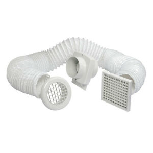 Manrose primero fd100t in line shower fan kit with timer for Bathroom extractor fan kit