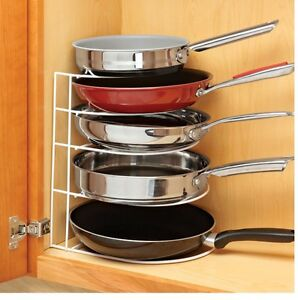 Frying Pan Organizer Save Space And Cookware Store In