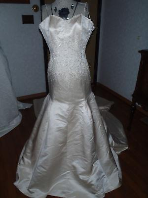 Sz 2-4 Anjolique satin beaded mermaid formal bridal