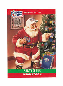 1990 Pro Set Santa Claus 1990 Football Card Ebay