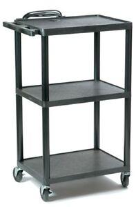 Adjustable-Height-Plastic-AV-Cart-4-Carts-in-One