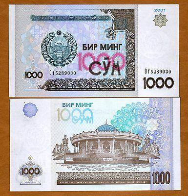 Uzbekistan, 1000 (1,000) Sum, 2001, Ex-USSR, Pick 82, UNC