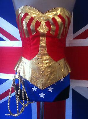 WONDER WOMAN CORSET BASQUE ONLY. lasso,briefs, skirt,hotpants,tiara in my shop