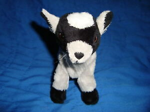 Gund-Telus-Plush-Grey-Billy-Goat-5-034-bendable-legs
