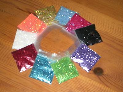 Sample Glitter Pack 1 Teaspoon Ech 11 Colors