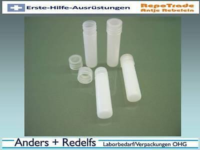Schraubröhrchen, Flachbodenröhrchen 13 x 54 mm, ca. 4 ml, PP, Schraubverschluss