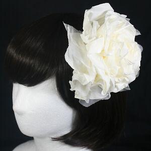 2-COLORS-FLOWER-HAIR-CLIP-ACCESSORY-BROOCH-UNIQUE-FASCINATOR-WEDDING-BRIDAL-HAT