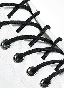 ROUND-BLACK-SHOE-LACES-LONG-SHOELACES-3mm-wide-11-LENGTHS-HIGH-QUALITY