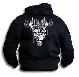 Mens-Womens-Skulls-Chains-Hell-Raiser-Sm-2XL-Hoodie-Hooded-Top-Rear-Print