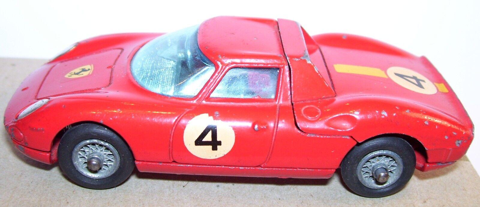 RARE CORGI TOYS FERRARI BERLINETTA 250 LE MANS N°4 REF 314 1965 1 43 GT BRITAIN