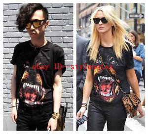 WOW-New-Women-Men-Chic-Dog-Head-Print-Short-Sleeve-Oversized-T-shirt-Tee-Top