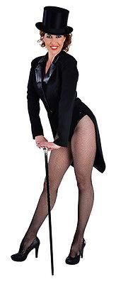 Ladies Tailcoat - Deluxe BLACK , Cabaret / Chaplin / Dance   - sizes 6 - 22