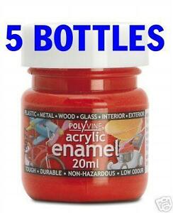 5x-Acrylic-Enamel-Airbrush-Paint-20ml-Pick-from-36-cols