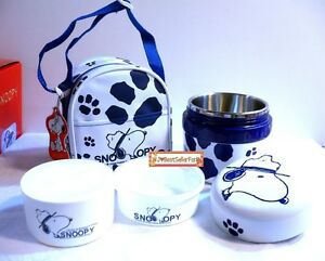 b5bf2f39be6d Details about Snoopy Stainless Steel Insulation Thermal Lunch Box Bento  Thermos Food Jar w/Bag