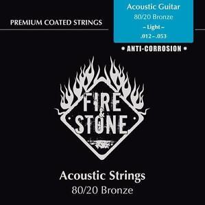 Fire-amp-Stone-Saiten-fuer-Acoustic-Akustik-Gitarre-Set-80-20-Bronze-012-053
