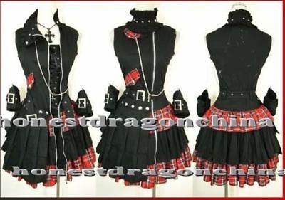 Gothic Lolita Punk Dress Cosplay Coat Dress Custom made