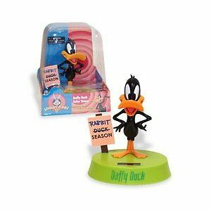 Solar-Powered-Daffy-Duck-Bobble-Head-Collectibe-NEW