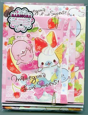 San-X Mamegoma Seal 4 Design Letter Set #10