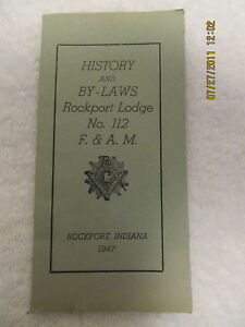1947-Folder-By-Laws-Rockport-IN-Masonic-Lodge-No-112