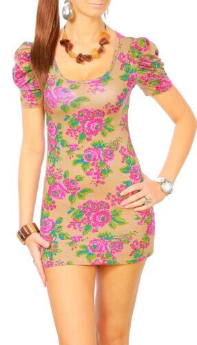 Womens Mini Dress Flower Print Bodycon Collection Gladiolus Ladies Tunic 3020