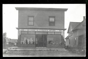 Grand Rapids rppc Visser Dry Goods Store Michigan 1915