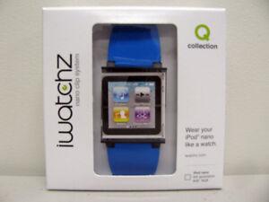 NEW-iWatchz-Q-Wrist-Watch-Case-for-Apple-iPod-Nano-6G-BLUE