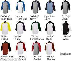 Champion-Mens-NEW-Size-S-3XL-Tagless-Tee-Sleeve-Baseball-Raglan-T-Shirt-T137