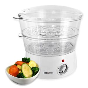 2-Tier-Layer-Food-Steamer-Healthy-Cooking-5-0L-400-WATTS-Dishwasher-Safe