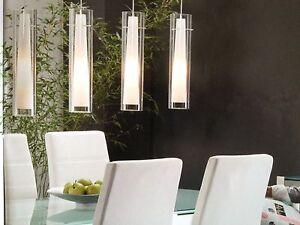 design deckenlampe 4 x glas zylinder h ngeleuchte. Black Bedroom Furniture Sets. Home Design Ideas