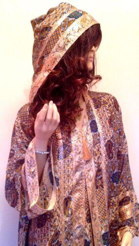 Desert Dress Ladies Moroccan Hooded Party Abaya Jilbab Long Silky Soft Dress New